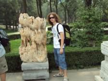 Peťo v jednom z pekingských parkov