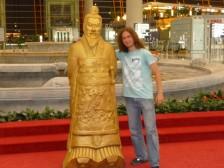 pred odletom z Pekingu