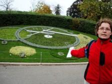 kvetinové hodiny v Ženeve