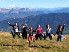 Semnoz - v pozadí Mont Blanc